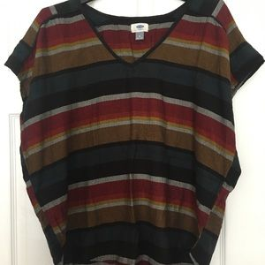 🍇 Striped Boho Lightweight Tunic from Old Navy
